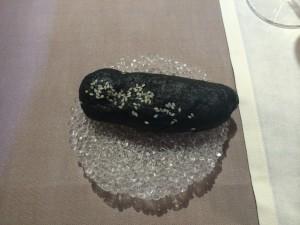 pan al vapor de tinta de calamar
