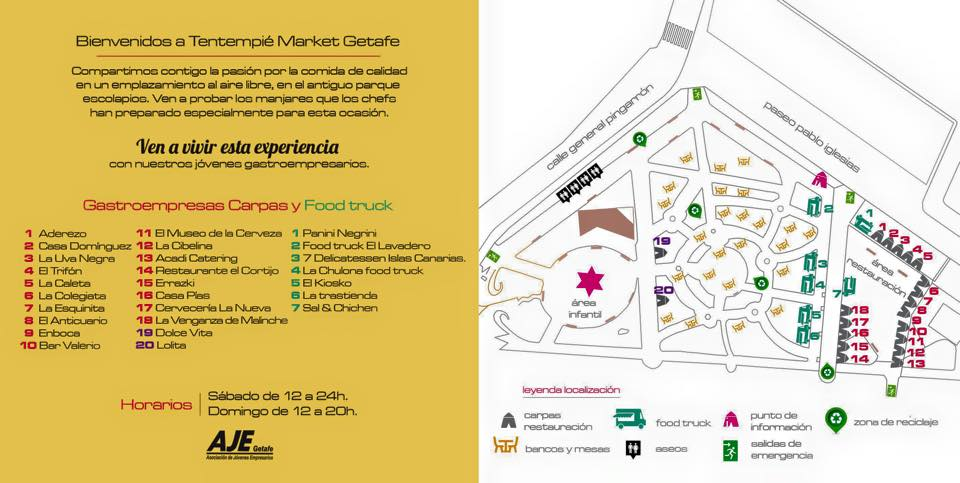Mapa de carpas y Food trucks