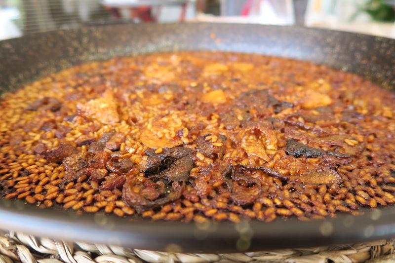 arroz con pellets