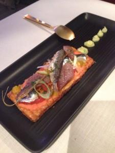 Tosta de Sardina en 3 texturas