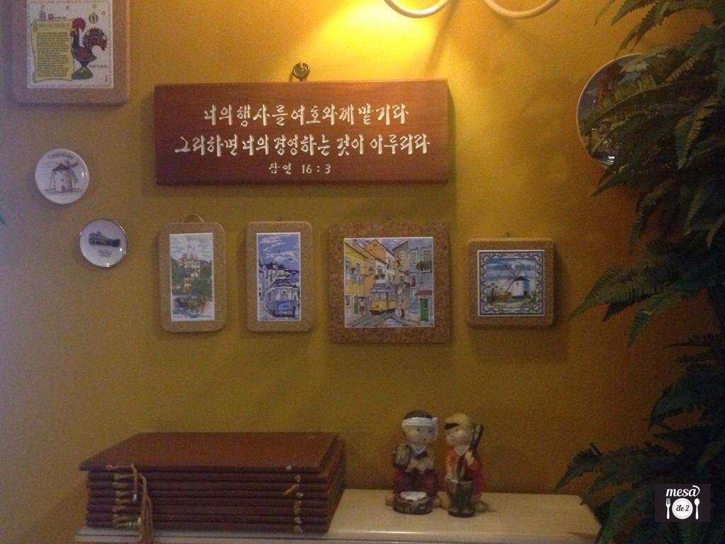 Detalles de decoración del local