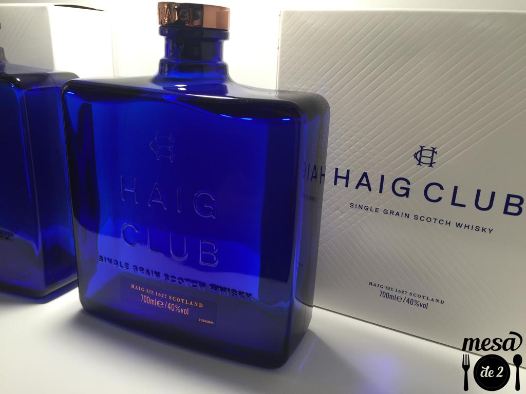 Detalle del diseño de la botella de Haig Club
